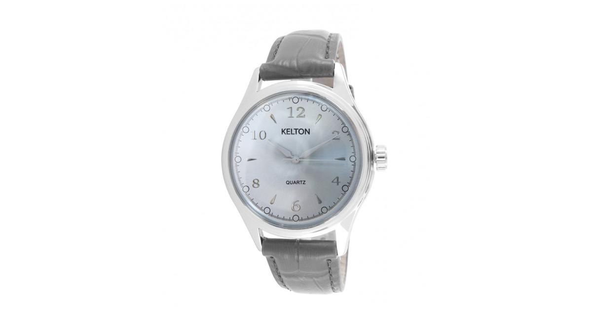 Héritage de Kelton en gris la montre pour homme à la taille d'antan toute en gris