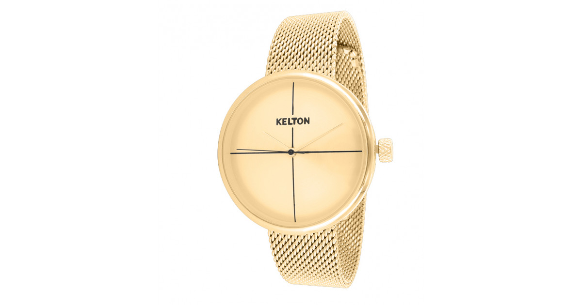 La Vinyle entièrement doré de Kelton la montre femme incontournable